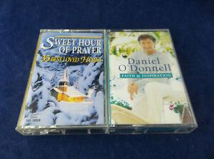 Lot-Of-2-Christian-Religious-Cassette-Tapes-Sweet-Hour-Of-Prayer-Daniel-O-039-Donnel
