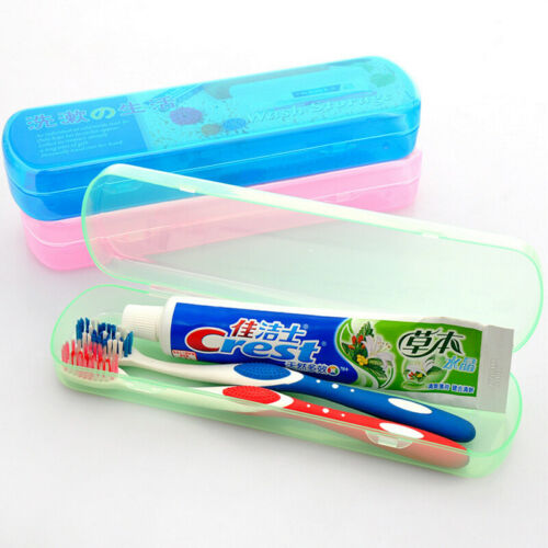 Toothbrush Case Holder Storage Box Plastic Travel Outdoor Camping Brush Cap US