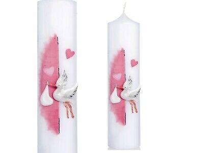 Kerzenständer Metallleuchter Weiss für Ø40mm Taufkerze Kommunionkerze Topseller