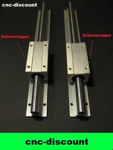 CNC Set 16x 950 mm 2x longtemps linéaire voiture linéaire guidage linéaire Guide Rail 3d Fraise
