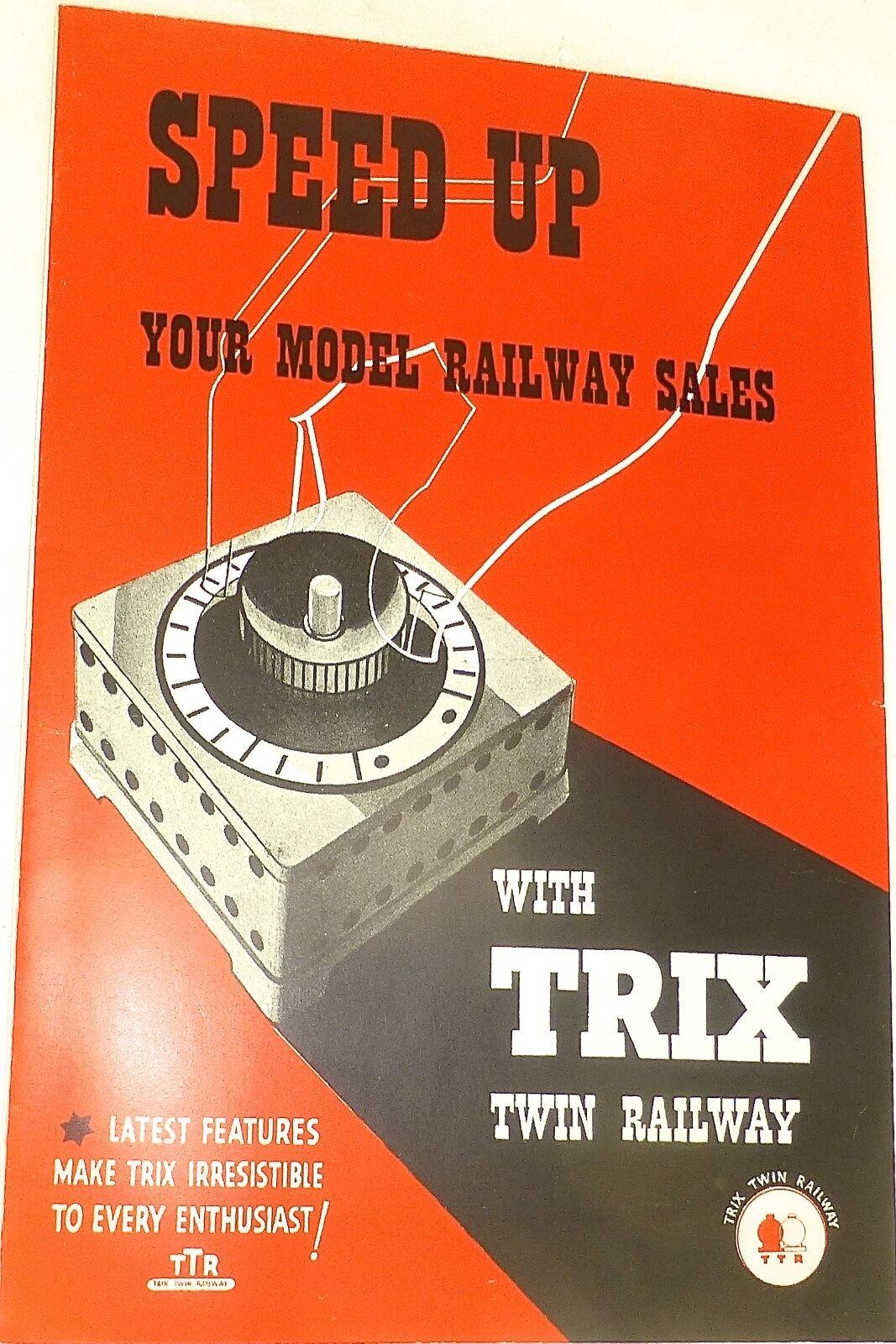 Speed Up Your Modelo Railway Ventas con Trix Twin Ttr Folleto Å
