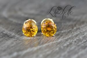 2-0-ct-Round-Cut-Orange-Sapphire-Screw-Back-Earring-Studs-14K-Rose-Gold