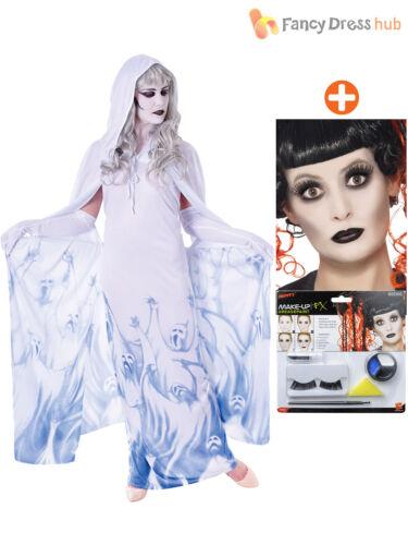 Make Up Kit Ladies Ghost Soul Seeker Costume Adult Halloween Fancy Dress Demon