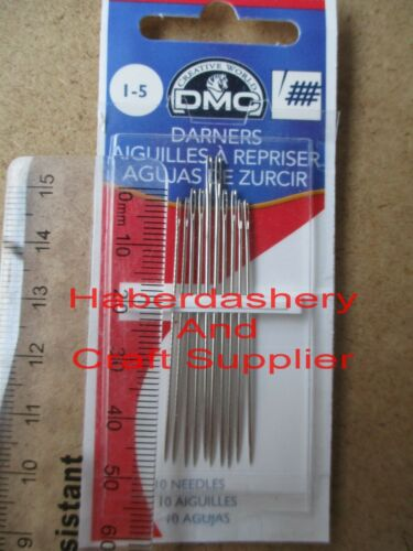 DMC DARNERS 10 HAND SEWING NEEDLES SIZE 15
