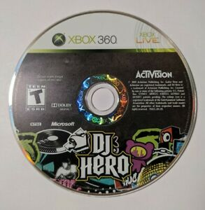 DJ Hero (Microsoft Xbox 360, 2009) - DISC ONLY