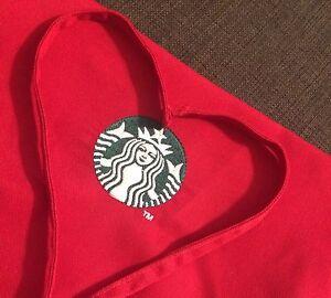 Starbucks Coffee Red Christmas Apron Xmas