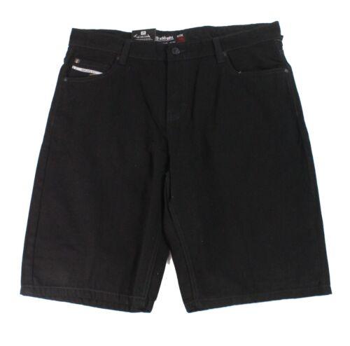 Mens Shorts Black Size 38 Denim 759 Relaxed Fit Seamed $58 #308 Ecko Unltd