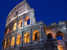 ART PRINT VINTAGE PHOTO EXTERIOR COLISEUM ROME ITALY LANDMARK TRAVEL NOFL1504