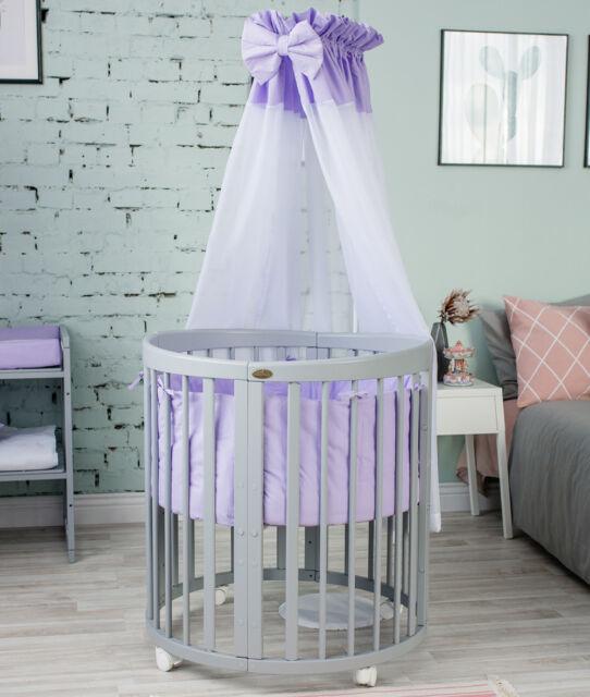 Matratze ComfortBaby® Babybett SmartGrow 7in1 Holzfarbe Weiss Bettset