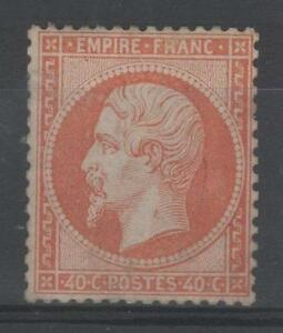 FRANCE-STAMP-TIMBRE-N-23-034-NAPOLEON-III-40c-ORANGE-1862-034-NEUF-A-VOIR-M858