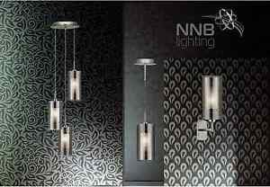 Design-Luminaire-Suspendu-1-3-a-Flammes-Applique-Murale-Fume-Verre-Chrome