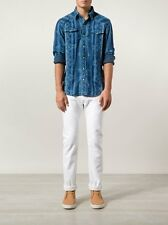 NWT RRL Double RL Ralph Lauren Slim White Japanese Selvedge Denim Jeans 34 x 32