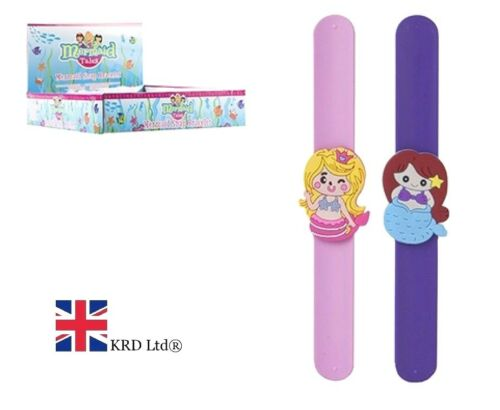 MERMAID SNAP BAND Girls Toy Gift Present Bracelet Slap Bands Birthday UK