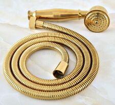 Gold Color Brass Bathroom Water Saving Hand Held Shower Head Sprayer+1.5m Hose