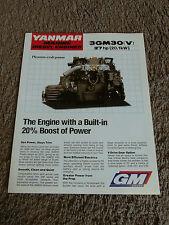 Yanmar Marine Diesel Engine 3GM30 3GM30V Dealer Sales Brochure Specifications