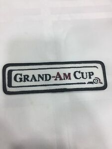 Vtg-Grand-Am-Cup-5-Embroidered-Sew-On-Patch-Road-Racing-Series-Badge