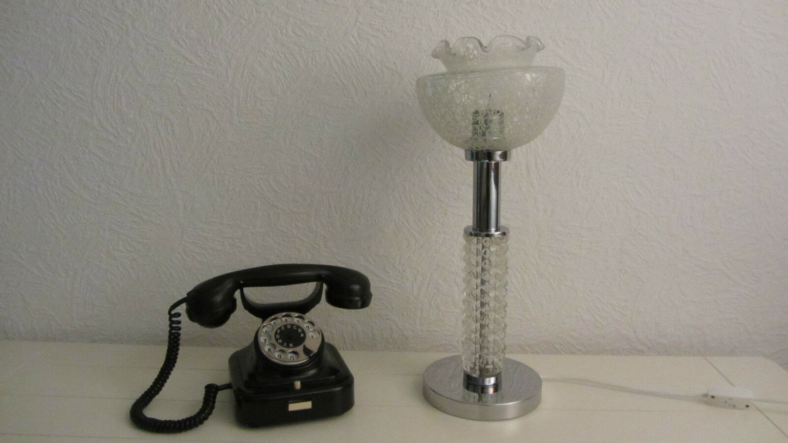 Lampe de 60er/' chevet Luminaire Abat-jour' 60er/' de 70er vintage afe438