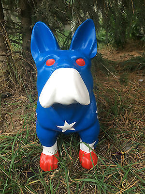 Bulldogge, Hund, Kunstbemalung, Designer Deko Figur Hochglanz-lack