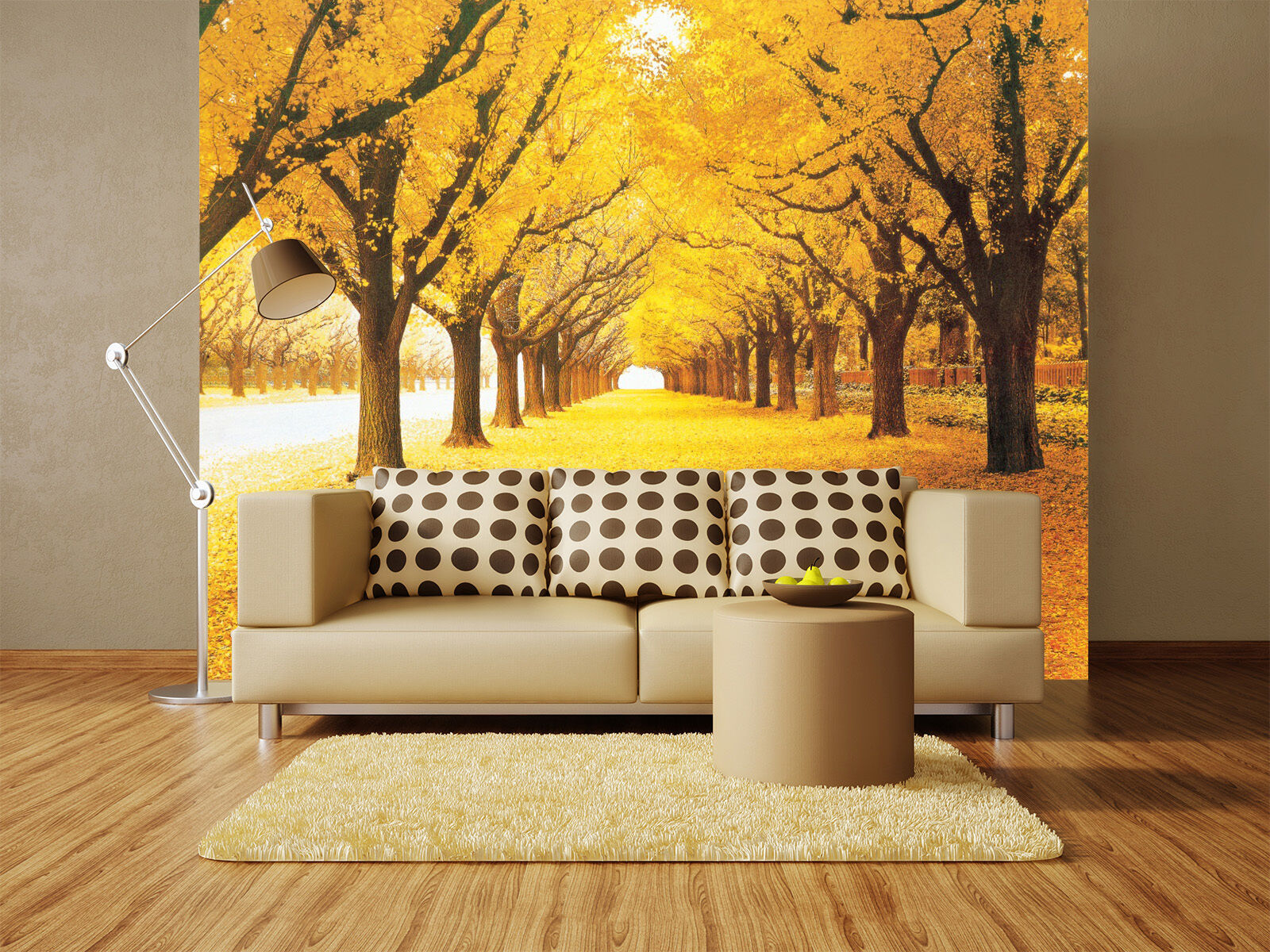 3D Yellow leaves Tree Wall Paper Murals Wall Print Decal Wall Deco AJ WALLPAPE