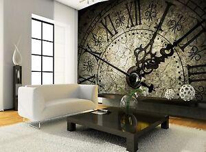 Antique Clock Photo Wallpaper Wall Mural Decor Paper Poster Wall Art Ebay