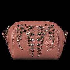 Noble Bags Billie Cross Over Bag Rose Silver Stuts Damen Lederhandtasche UVP 99€