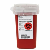 Covidien Kendall Sharpsafety Phlebotomy Sharps Container 1qt Red - Lot Of 10