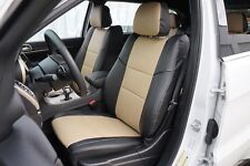 JEEP GRAND CHEROKEE 2011-2015 IGGEE S.LEATHER CUSTOM FIT SEAT COVER 13COLORS