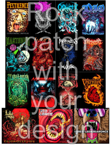 Rock patch with your design printed patch wholesale rock heavy death metal punk