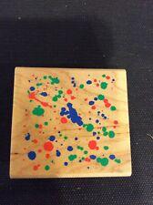 blood splatter  #15 mess grunge paint drip spill Splat mounted rubber stamp