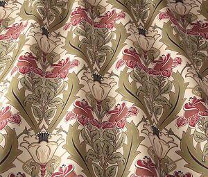 Iliv Art Deco Acanthus Cherry William Morris Style Curtain
