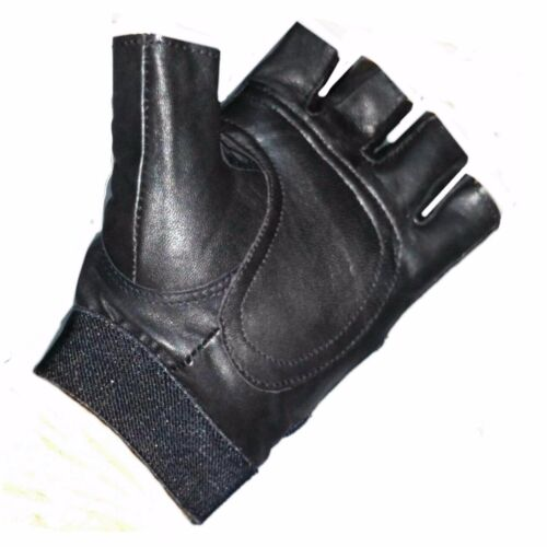 Fahrradhandschuhe Leder Sport Handschuhe Fingerlos Fingerlinge Halbfinger Gloves