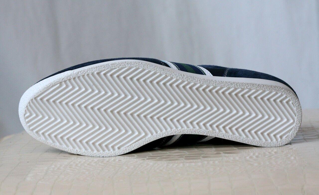Boggi Milano Para Ante+canvas Hombre Azul Marino Ante+canvas Para Sneaker Trainer 8 f1ac1a