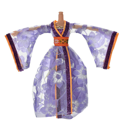Dress for s Classical Beautiful Chinese Ancient Dress Doll Toy 6 ColorsBLUS