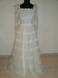 Vestiti Da Sposa Meravigliosi.Vestito Da Sposa Vintage 70 Pronuptia Paris Pizzo Meraviglioso