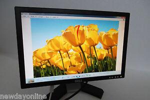 """Dell E198WFP 19"""" Widescreen LCD Monitor VGA DVI RW195 MM226 E198WFPf E198WFPv"""