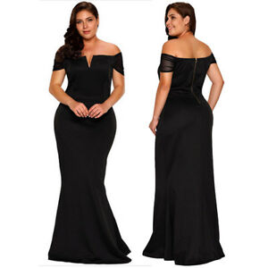 Plus-Size-Sheer-Short-Sleeve-Maxi-Long-Formal-Gown-Cocktail-Evening-Party-Dress