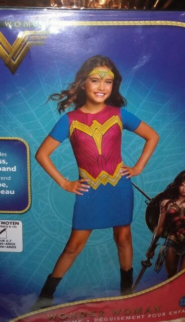 Wonder Woman Girls Costume Dress Up Size Medium (USA 8-10) New in package - eBay