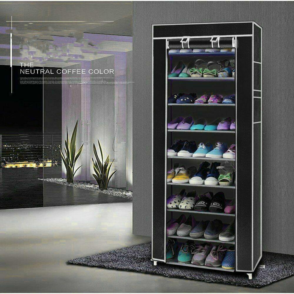5//10 Tier 25//50 Pair Shoe Rack Storage Cabinet Organizer Shelf Holder Stacka UK
