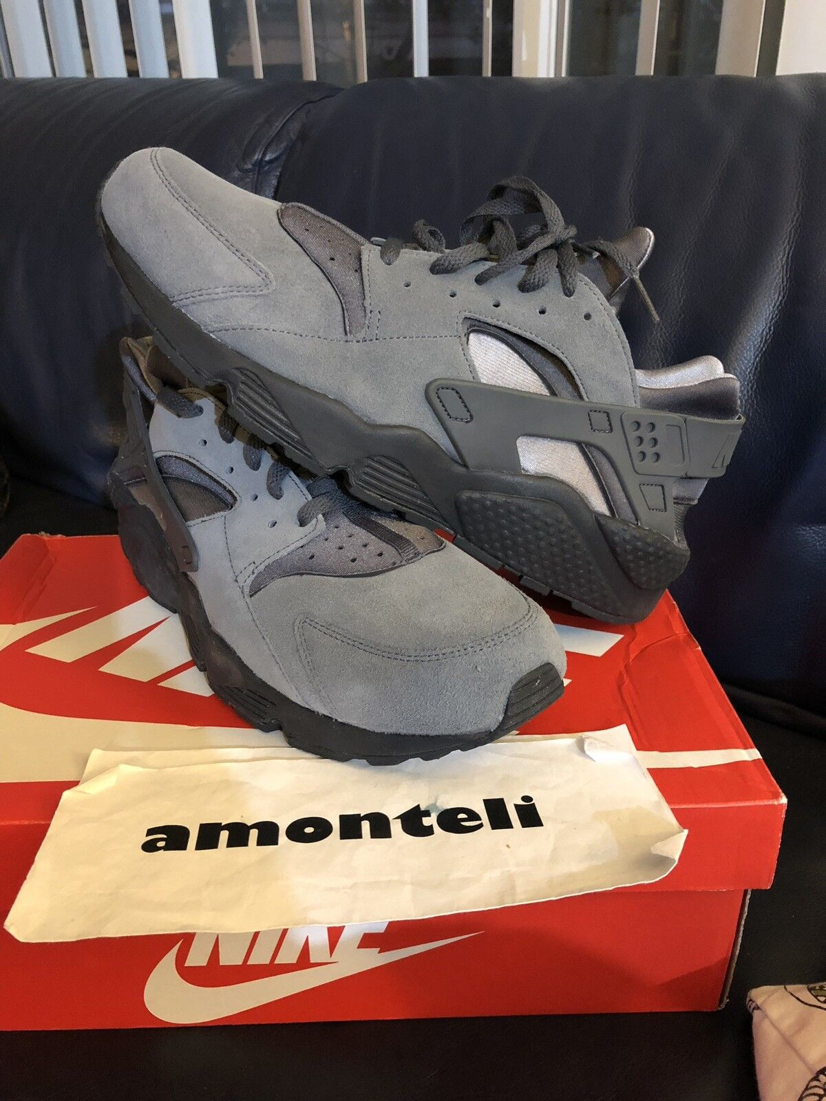 BRAND NEW NIKE AIR HUARACHE COOL GREY ANTHRACITE - SIZE 13 DEADSTOCK