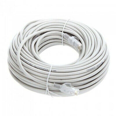 60FT Cat5E PoE HD IP Camera NVR Network Ethernet Cable Outdoor//Indoor RJ45 Cord