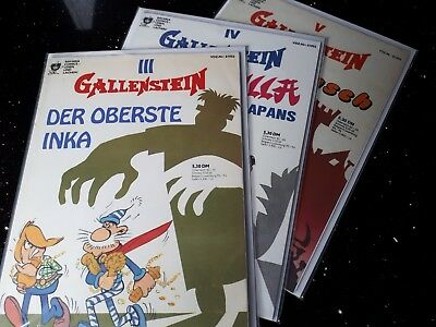 """!!! Comics """"gallenstein""""  Bavaria 1980  Band 3 4 5  Zustand 1/2 !!! Warm Und Winddicht"""