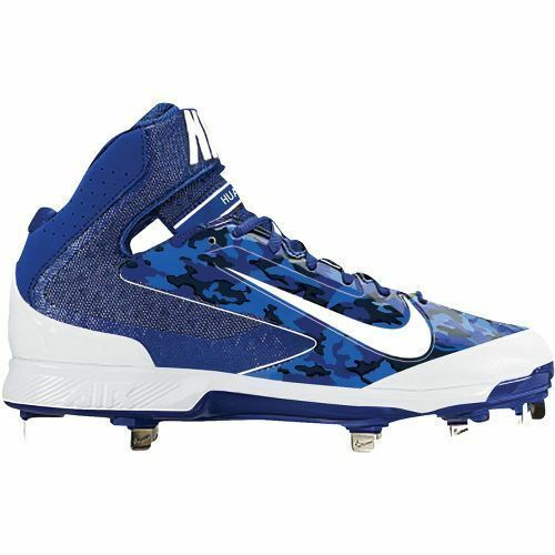 Nike Air Huarache Pro Mid Metal Baseball Cleats / Shoe Men SIZE 9, 10, and 12 US Rush Blue / White,Black / White-Varsity Red,Black / White