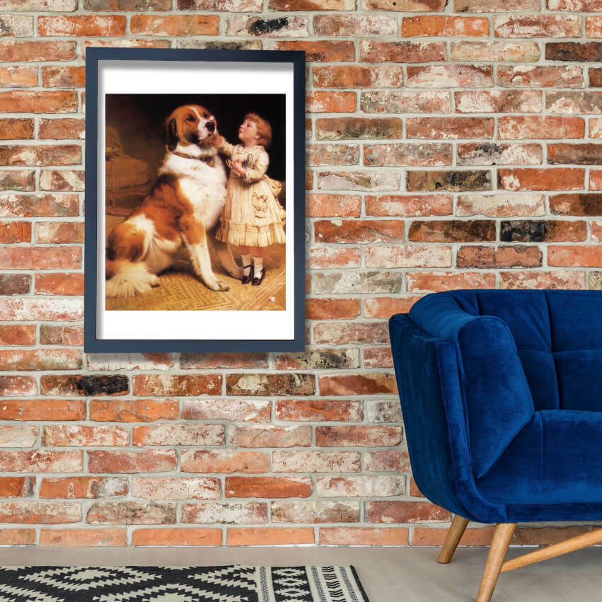 Charles Burton Barber - Good Friends Wand Kunst Poster Drucken