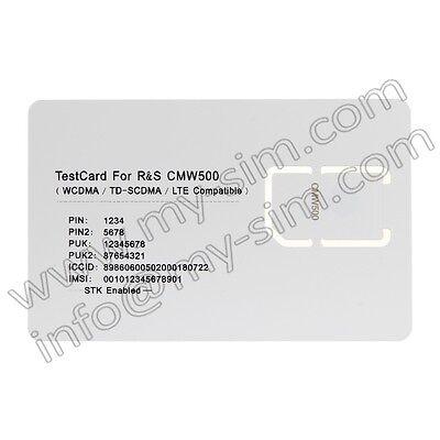 LTE Mobile Phone Test SIM USIM Card for ROHDE&SCHWARZ CMW500 Test SIM USIM Card