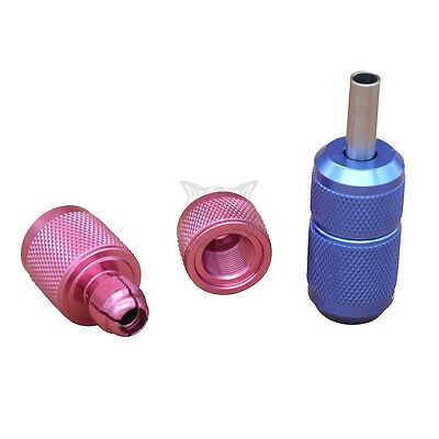 "1pc Pro Aluminum Tattoo Grip Tube 1"" with Back Stem 25MM Self-Lock Random Color"