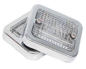 MG-REVERSE-LIGHT-Backup-LUCAS-LAMP-LENS-Chrome-Rims-MGB-Midget-Jag-E