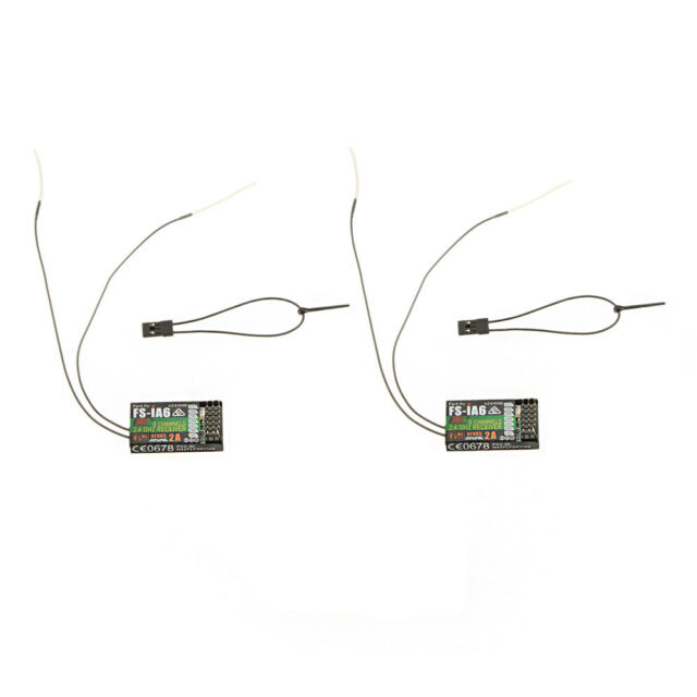 2Pcs 2.4G Flysky FS-iA6 6 Channel Remote Control Receiver with Double B3T7