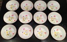 "12 Mikasa Stratford Summer Melody 5 5/8"" BowlsL9008-Nita Designer-Fine Porcelain"