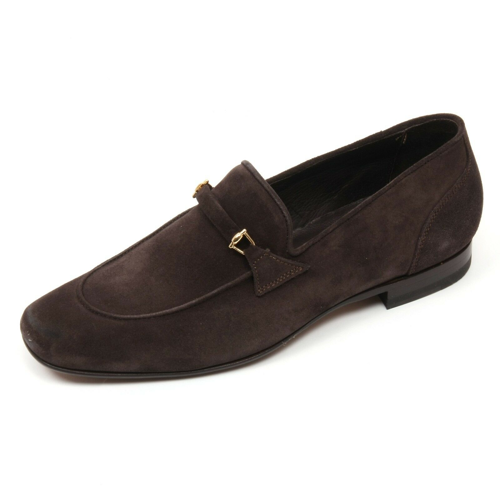 C3808 mocassino uomo ALTIERI MILANO scarpe marrone scuro loafer shoe man