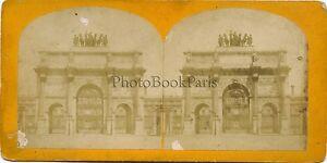 Place Carosello Parigi Francia Stereo Vintage Albumina Ca 1880